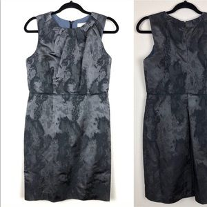 LOFT Formal Metallic Shift Dress Petite Sz 8